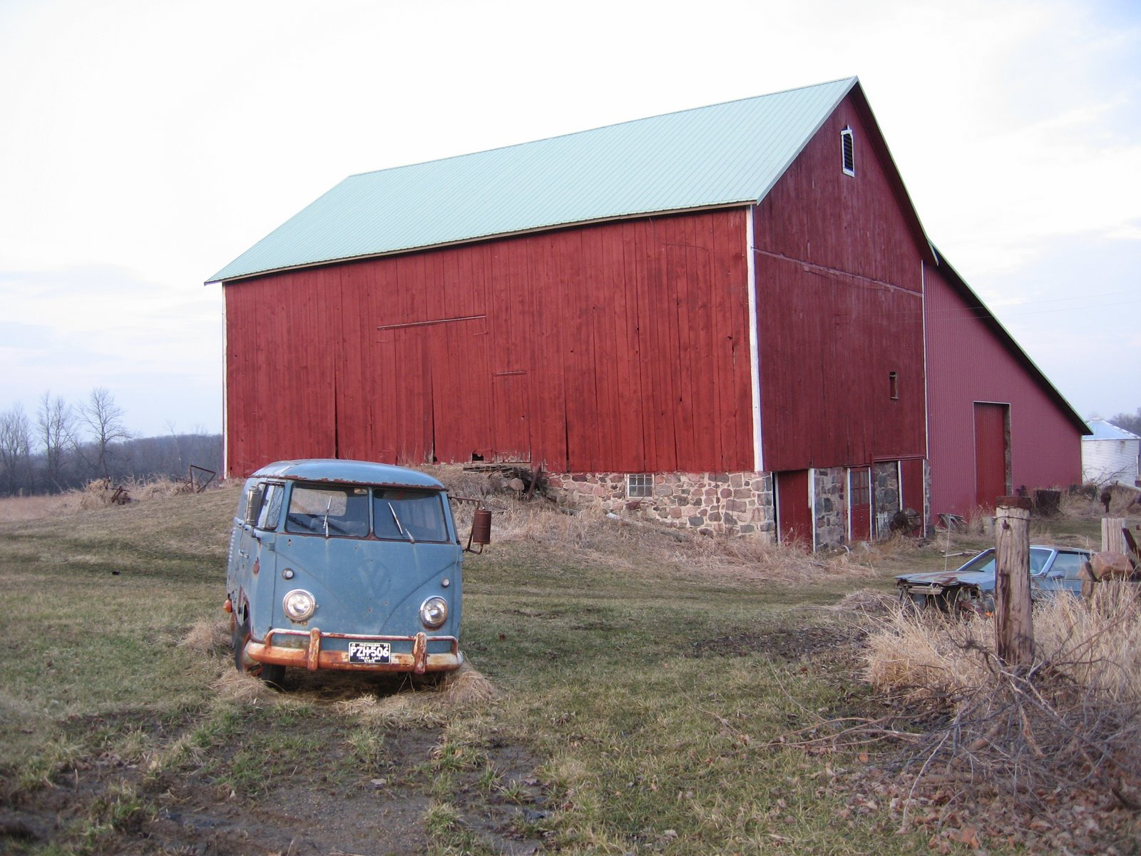Do Barn Finds Have To Be Parked Inside Of Barns Im Sure This Vintage VW Bus Would Disagree Its Located Or It Was North Ann Arbor Michigan