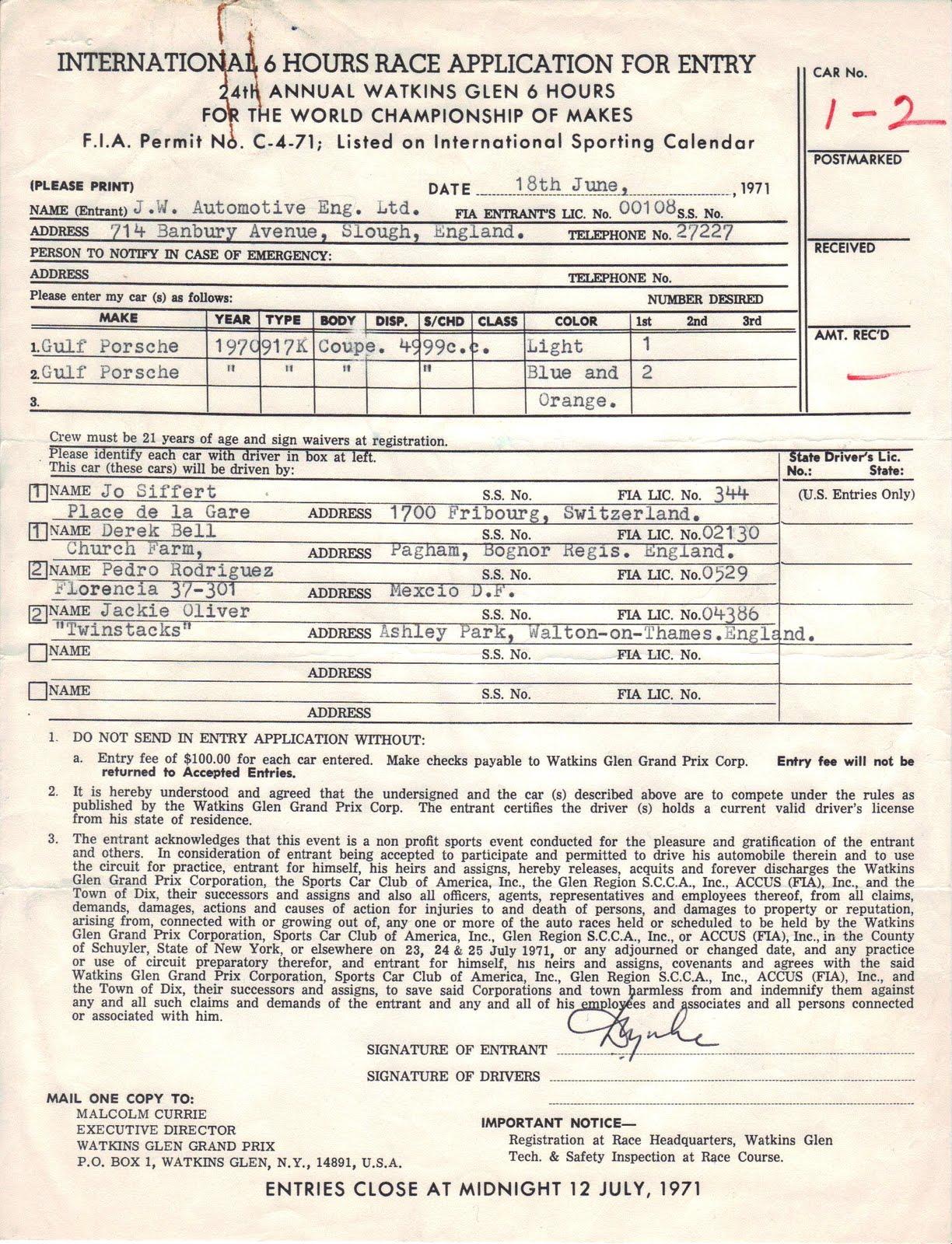 Gulf-Porsche 917s and