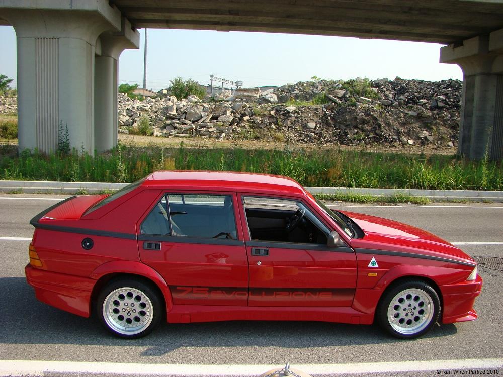 Alfa Romeo 75 Turbo Evoluzione 2 Ran When Parked