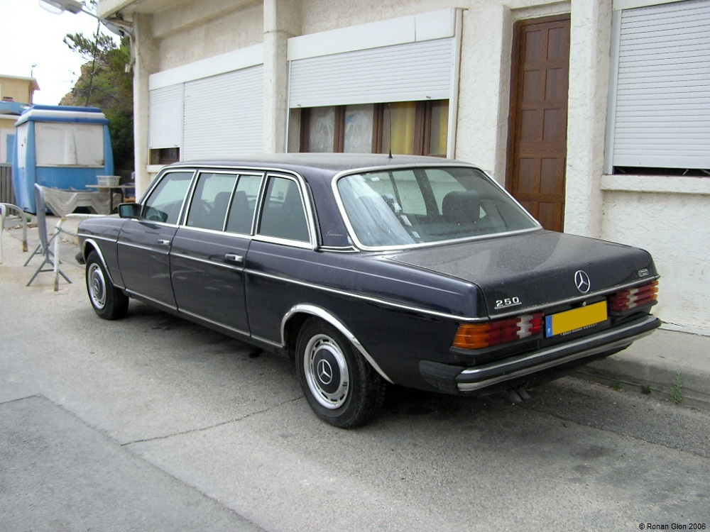 Mercedes w123 limousine for sale for Mercedes benz limo for sale