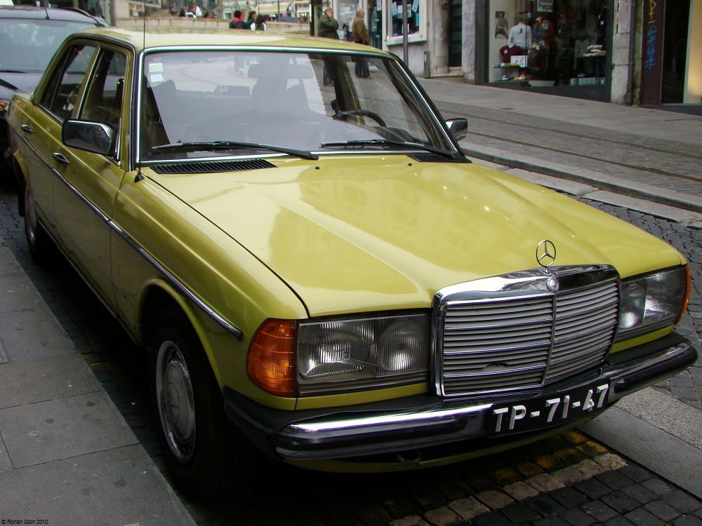 Mercedes Benz 240d Mimosengelb 1 Ran When Parked