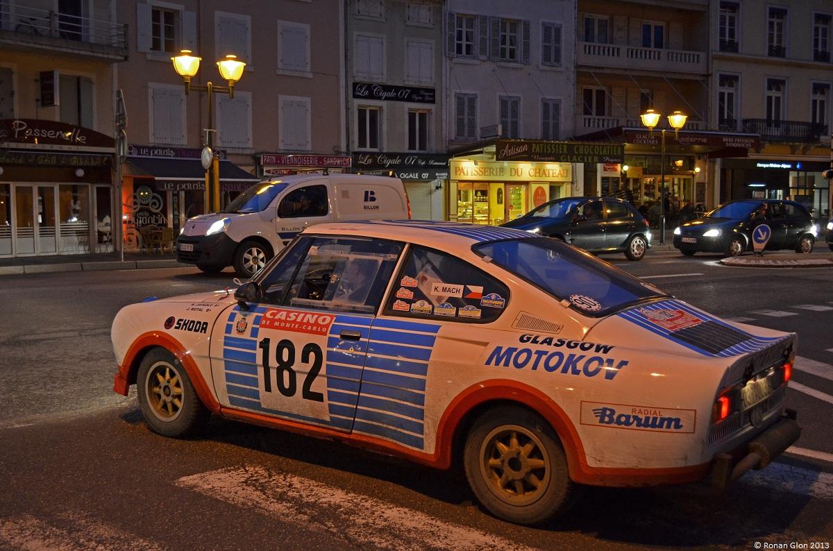 67 monte carlo historique skoda 130 rs ran when parked for Garage skoda paray vieille poste