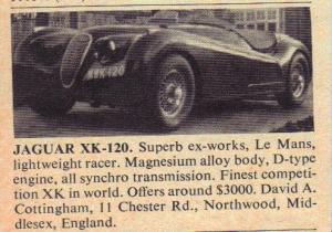 RWP_advert_Xk120_jul1970