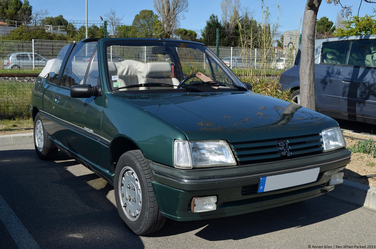 peugeot 205 roland garros 1 ran when parked. Black Bedroom Furniture Sets. Home Design Ideas