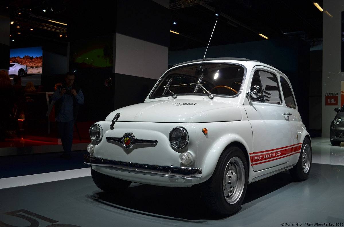 frankfurt motor show fiat abarth 595 ss 1 ran when parked. Black Bedroom Furniture Sets. Home Design Ideas