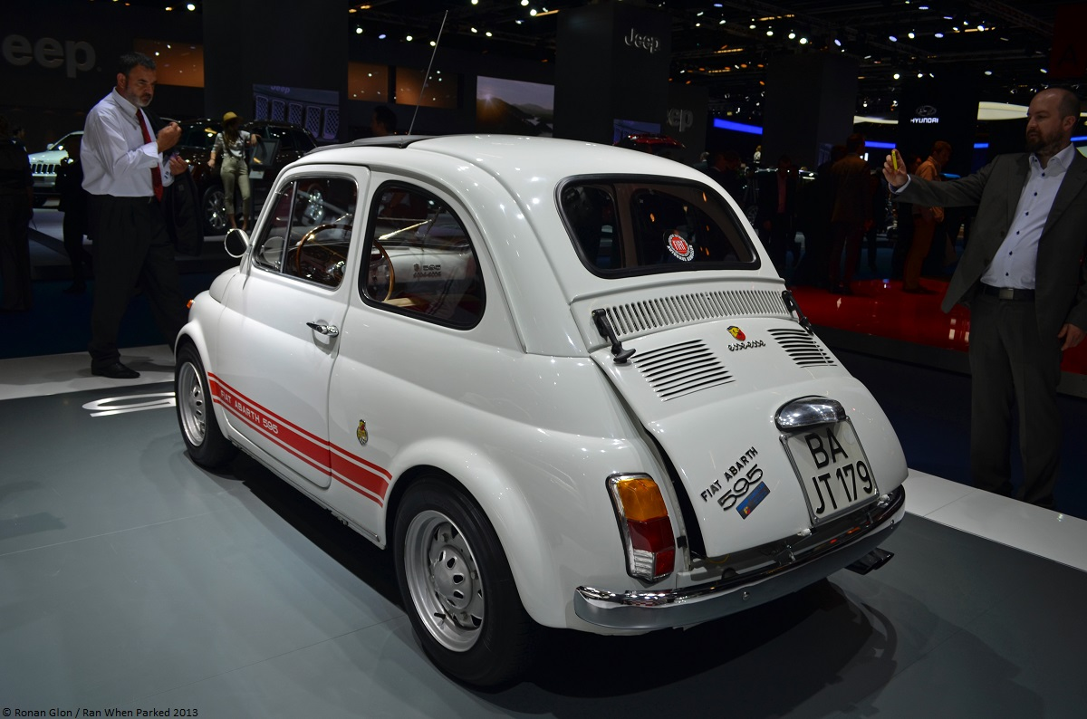 frankfurt motor show fiat abarth 595 ss 2 ran when parked. Black Bedroom Furniture Sets. Home Design Ideas