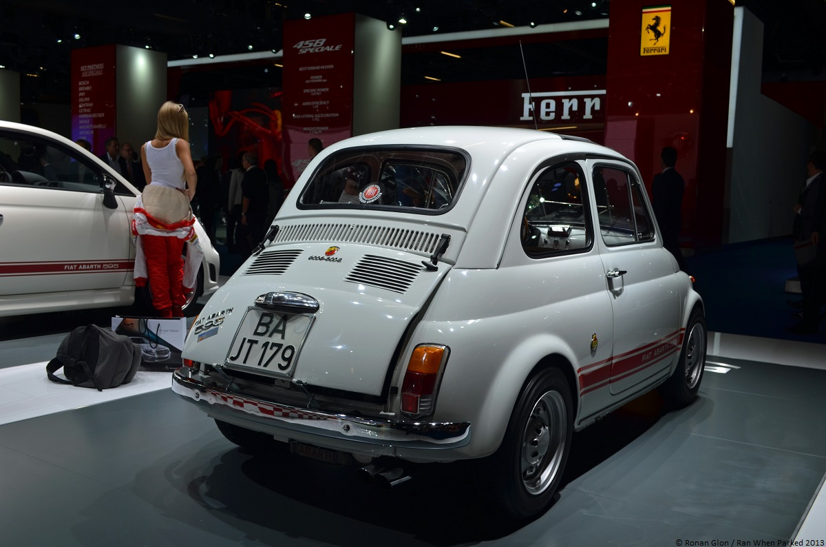 frankfurt motor show fiat abarth 595 ss 4 ran when parked. Black Bedroom Furniture Sets. Home Design Ideas