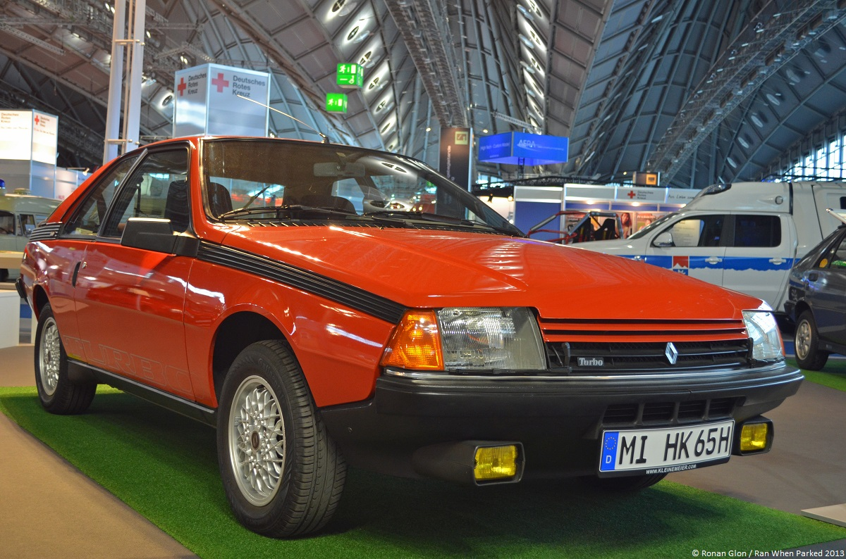 live from the frankfurt motor show renault fuego turbo ran when parked. Black Bedroom Furniture Sets. Home Design Ideas