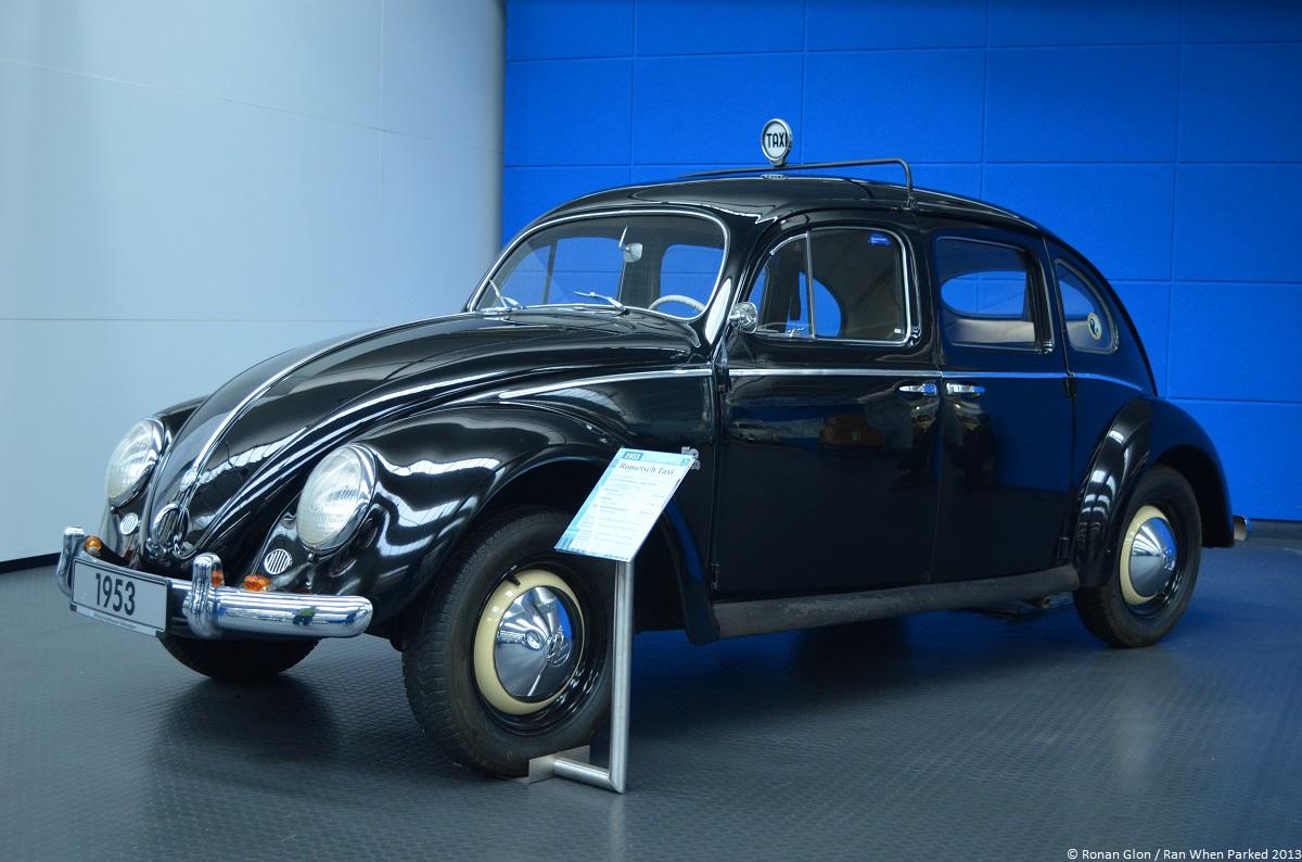volkswagen museum wolfsburg beetle four door taxi 1 ran when parked. Black Bedroom Furniture Sets. Home Design Ideas
