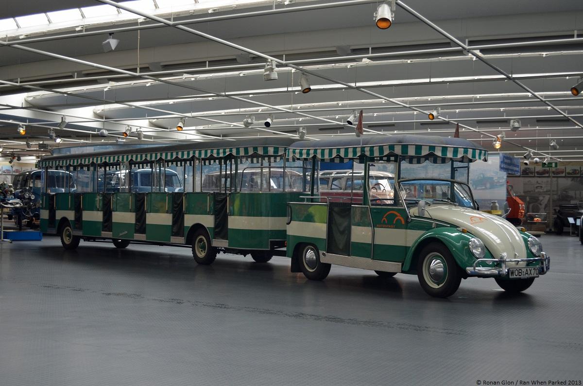 volkswagen museum wolfsburg beetle road train ran when parked. Black Bedroom Furniture Sets. Home Design Ideas