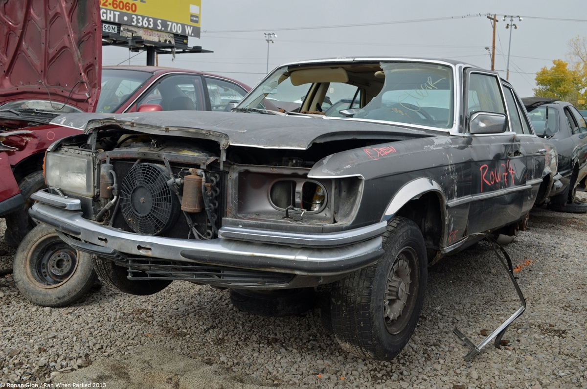 Rust in peace mercedes benz 450sel 6 9 ran when parked for Garage mercedes gap