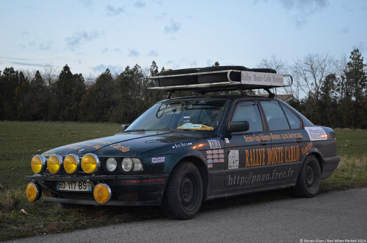 rallye monte carlo historique 2014 bmw e34 ran when parked. Black Bedroom Furniture Sets. Home Design Ideas