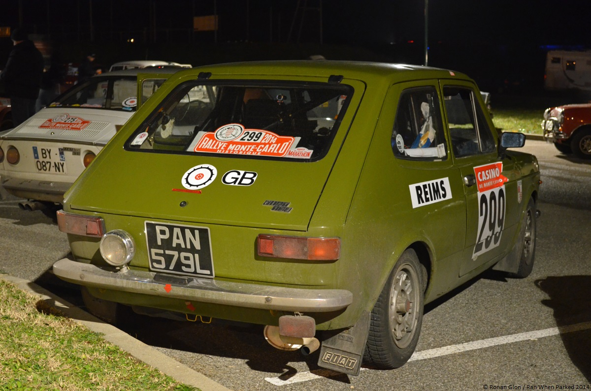 rallye monte carlo historique 2014 fiat 127 ran when parked. Black Bedroom Furniture Sets. Home Design Ideas