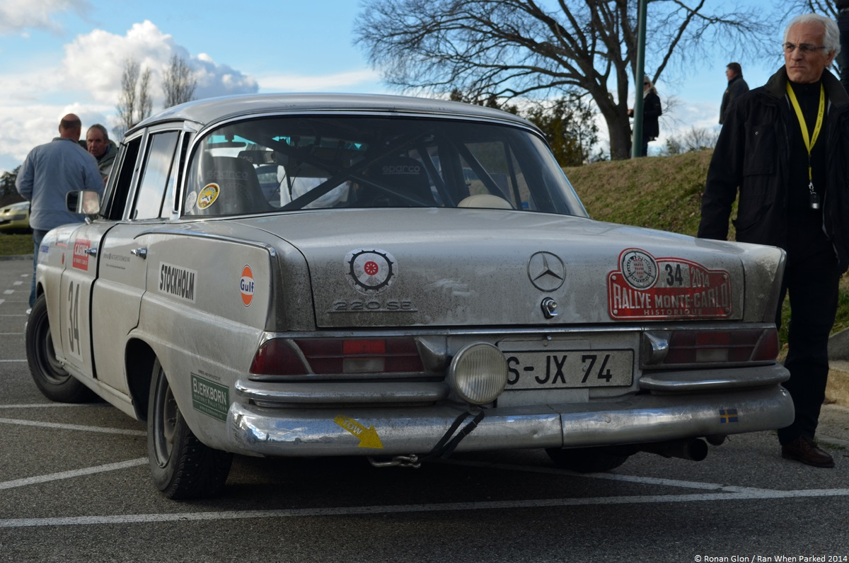 Rallye monte carlo historique 2014 mercedes benz 220se 1 for Rally mercedes benz