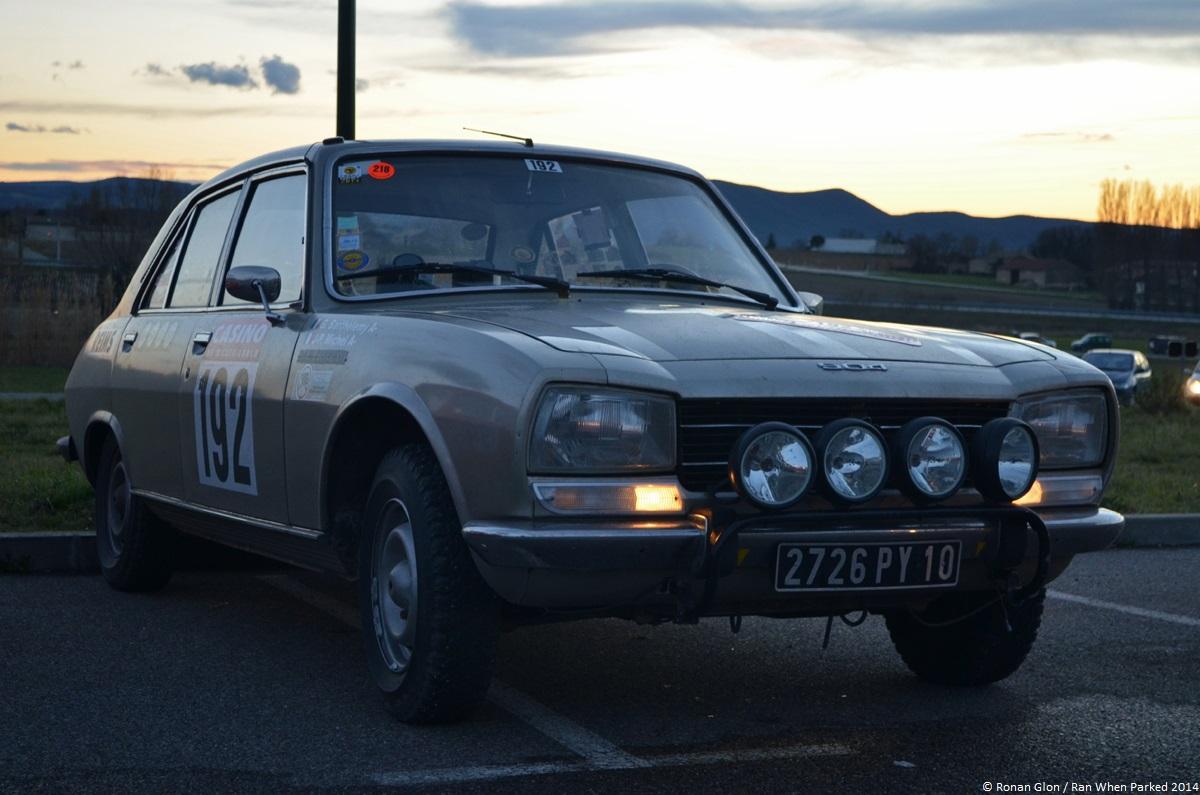 rallye monte carlo historique 2014 peugeot 504 1 ran when parked