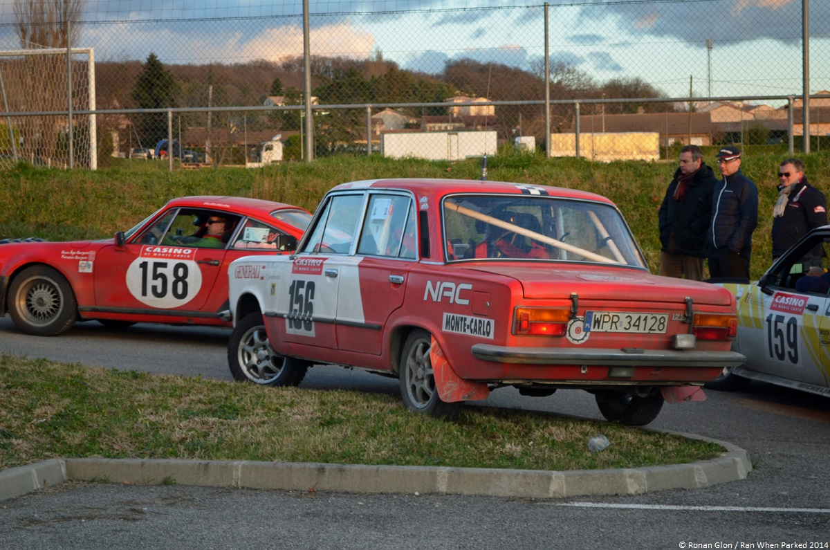 rallye monte carlo historique 2014 polski fiat 125p 1 ran when parked. Black Bedroom Furniture Sets. Home Design Ideas