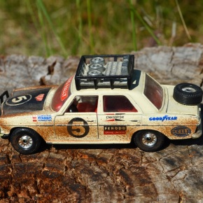 Scaled down: Corgi's 1/32-scale Mercedes-Benz 240D rally car