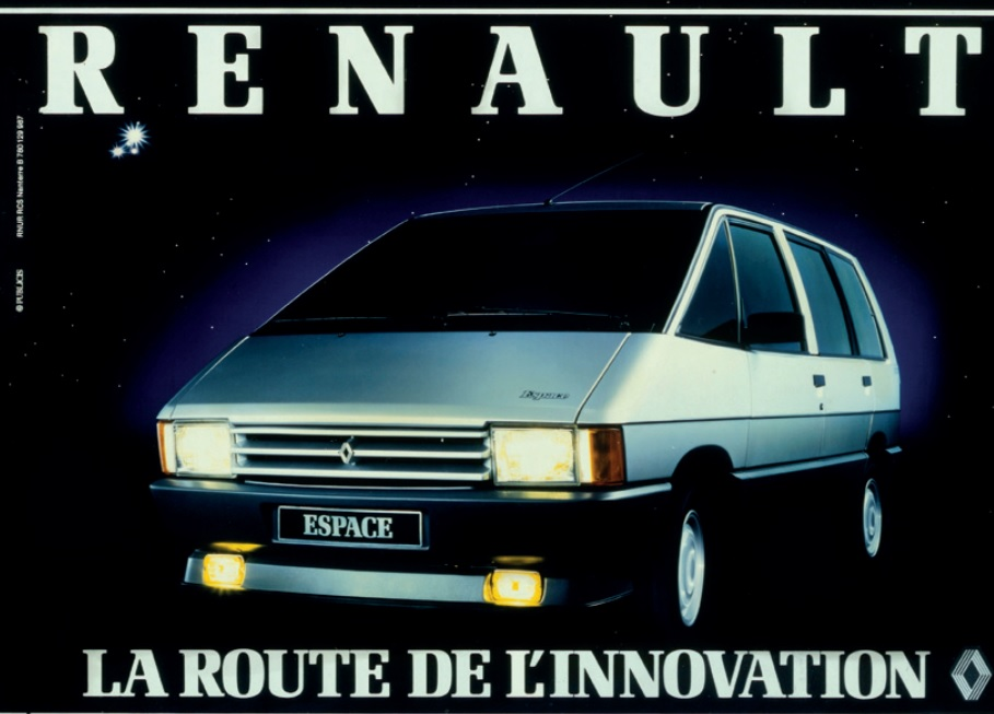 30 years ago renault introduces the espace ran when parked. Black Bedroom Furniture Sets. Home Design Ideas