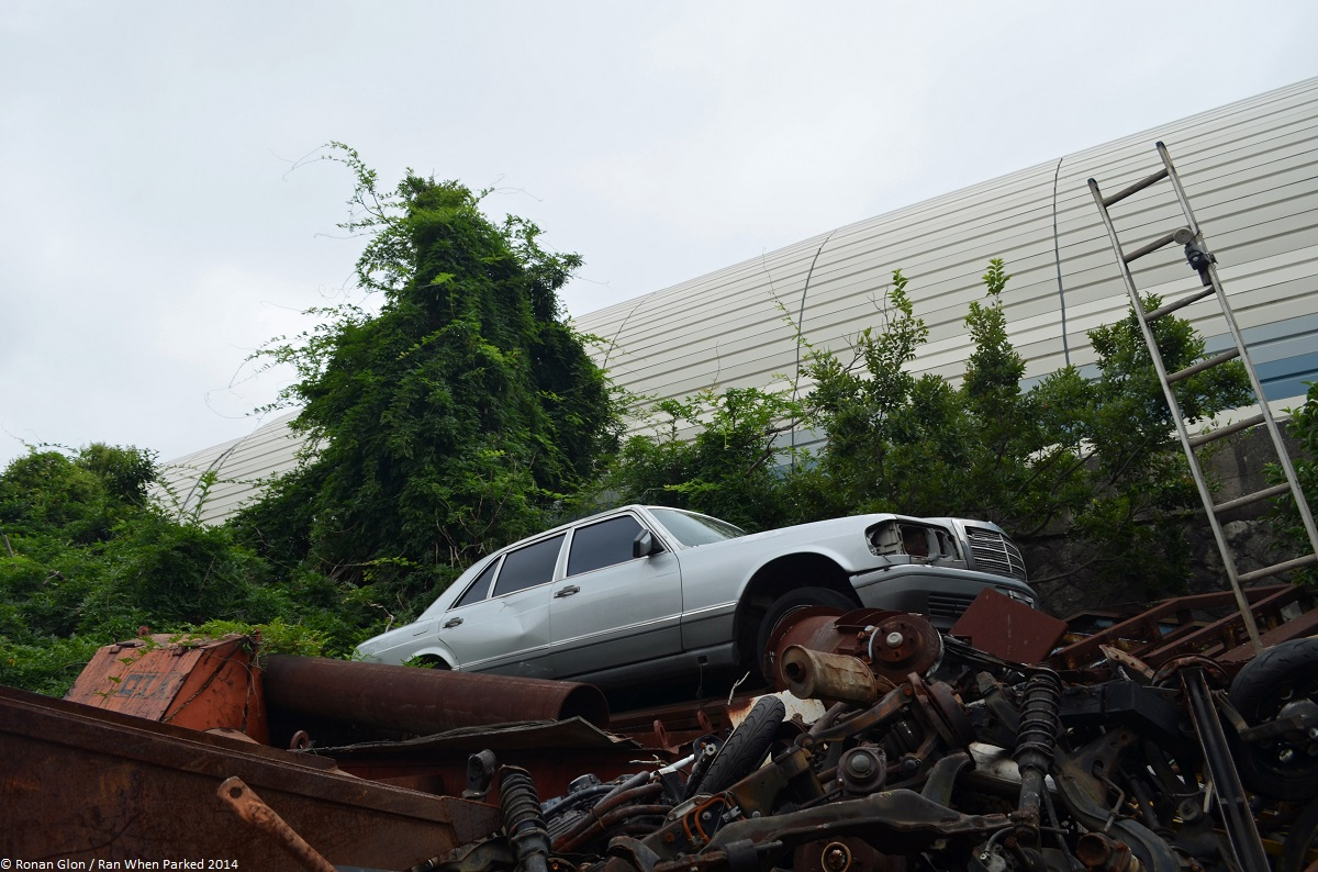 Rust in peace mercedes benz w126 ran when parked for Mercedes benz scrap yard