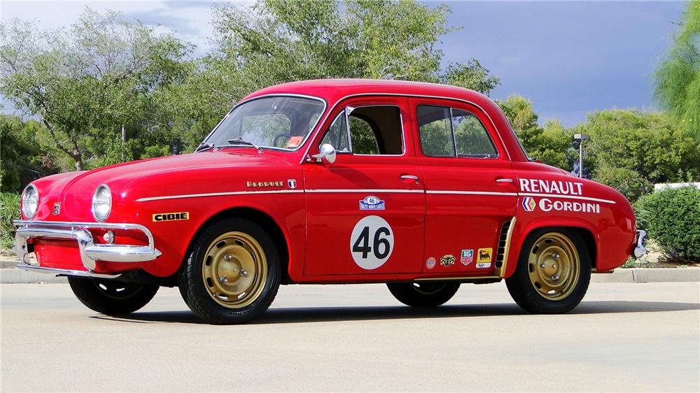auction watch 1964 renault dauphine gordini sells for 16 500 ran when parked. Black Bedroom Furniture Sets. Home Design Ideas