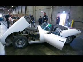Stolen Jaguar E-Type returned to owner after 46 years