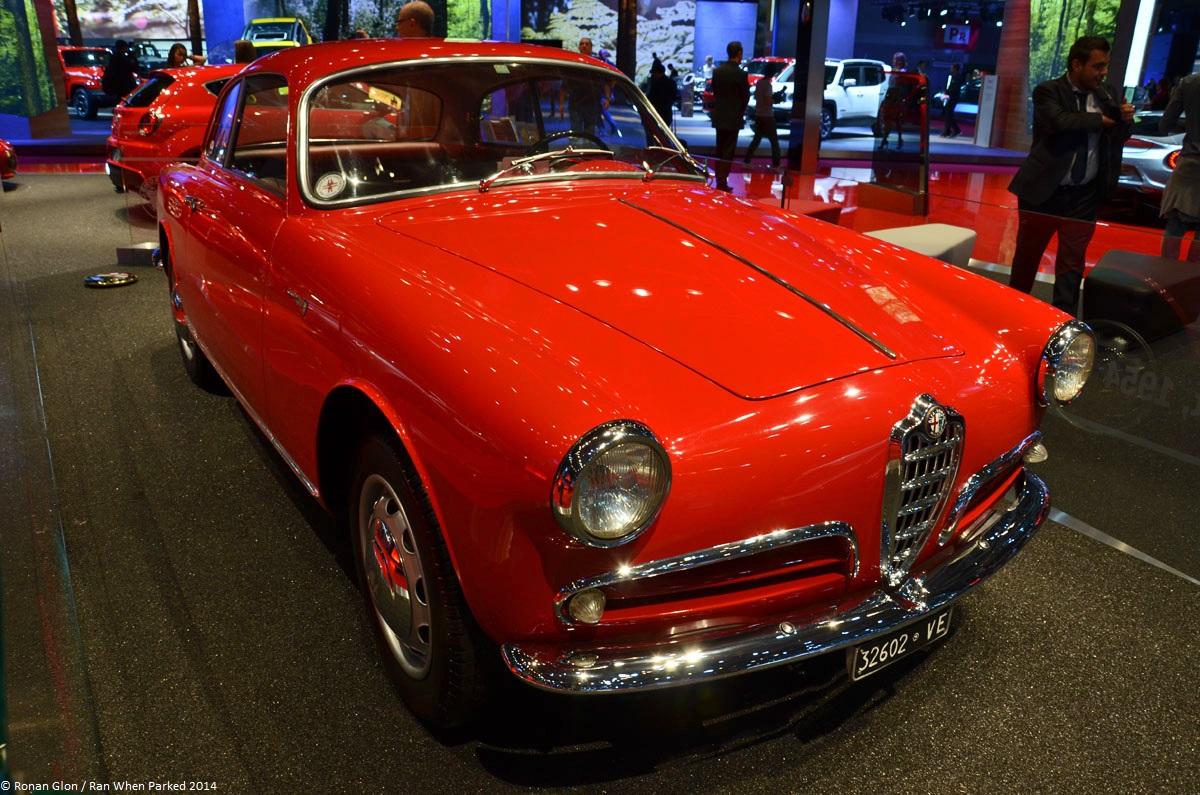 Alfa romeo giulietta sprint 1954 paris motor show 9 ran for Garage alfa romeo paris