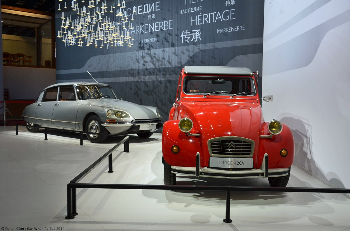 live from the paris motor show citro n ds 21 2cv6 sp cial ran when parked. Black Bedroom Furniture Sets. Home Design Ideas