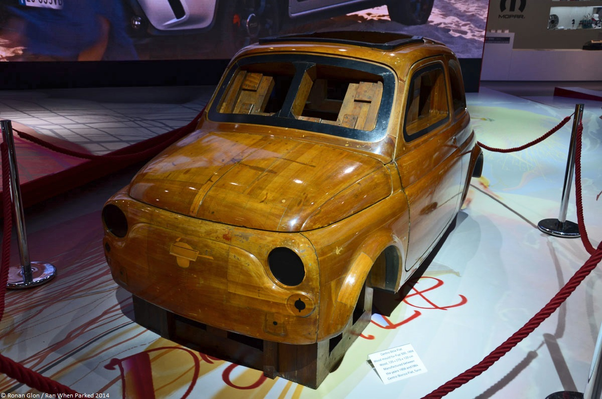 Live from the paris motor show the wood master model for for Garage fiat paris