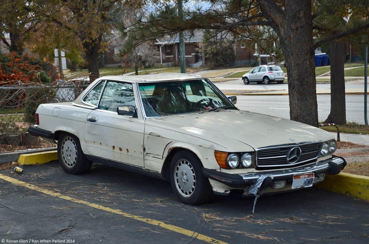Mercedes benz 560sl r107 3 ran when parked for Mercedes benz 560sl