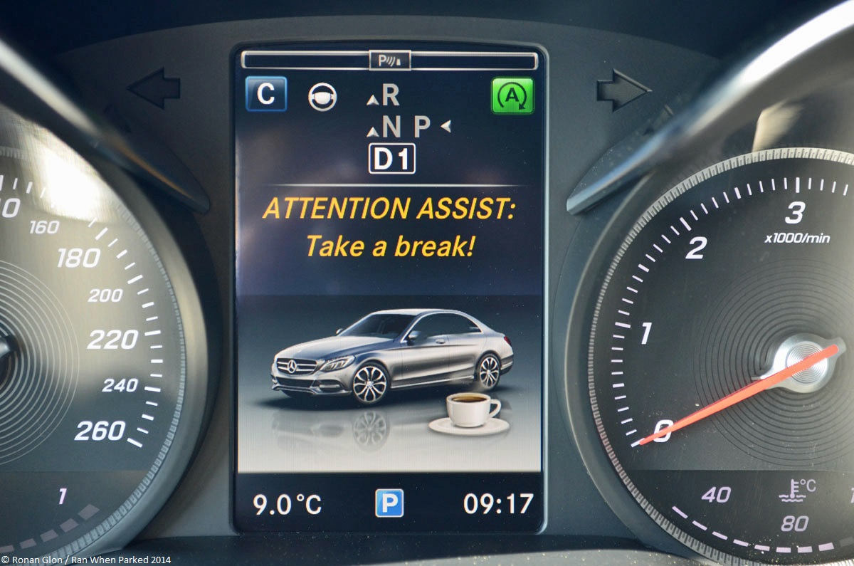 mercedes benz c class w205 attention assist 1 ran when