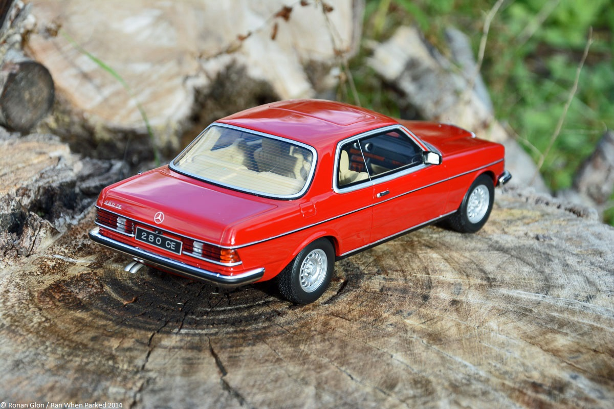 scaled down ottomobile s 1 18 scale mercedes benz 280ce 123 series ran when parked. Black Bedroom Furniture Sets. Home Design Ideas
