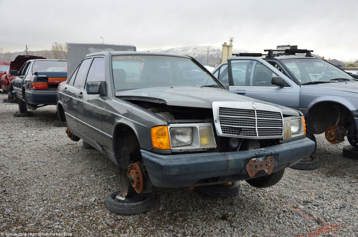 Ranwhenparked slc mercedes benz w201 190e 1 ran when parked for Mercedes benz junkyard