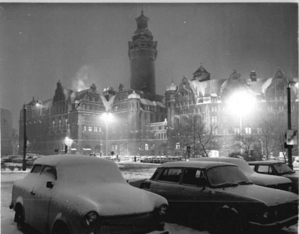 "Leipzig, ""Neues Rathaus"", Winter"