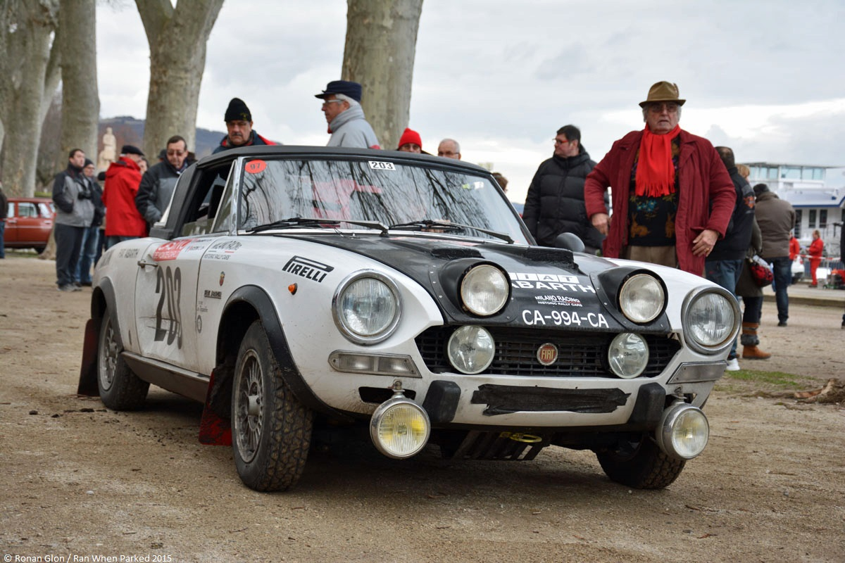 2015 historic monte carlo rally ranwhenparked fiat 124 abarth 1 ran when parked. Black Bedroom Furniture Sets. Home Design Ideas