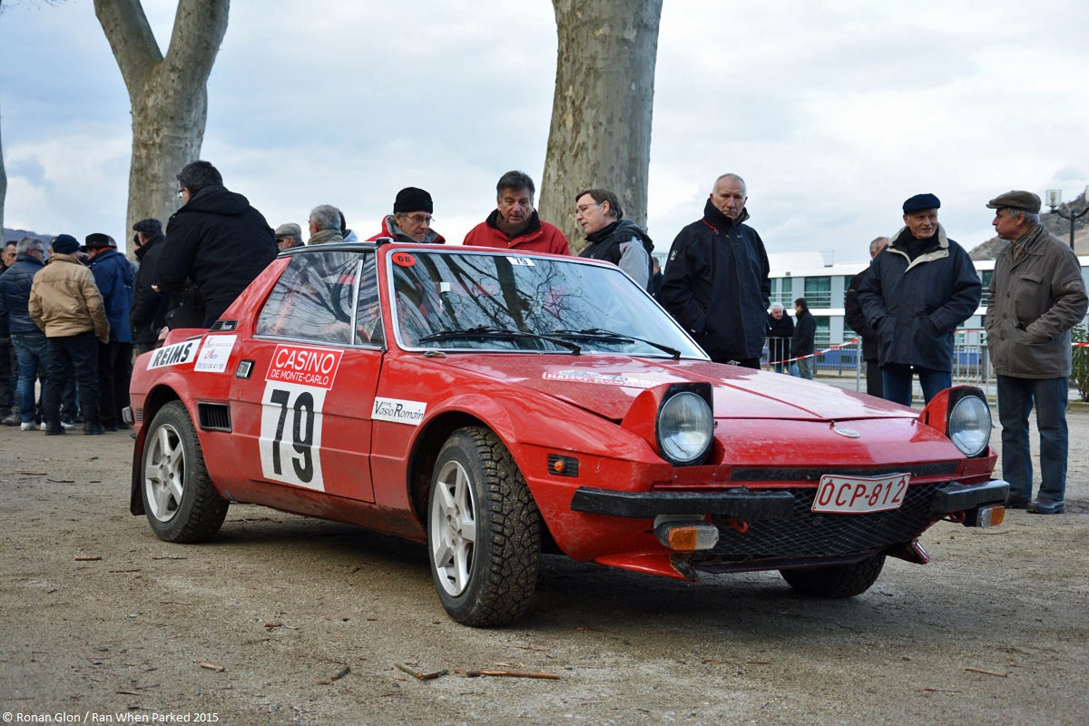 2015 historic monte carlo rally ranwhenparked fiat x19 4 ran when parked. Black Bedroom Furniture Sets. Home Design Ideas