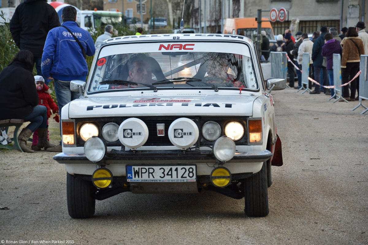 2015 historic monte carlo rally ranwhenparked polski fiat 125 4 ran when parked. Black Bedroom Furniture Sets. Home Design Ideas