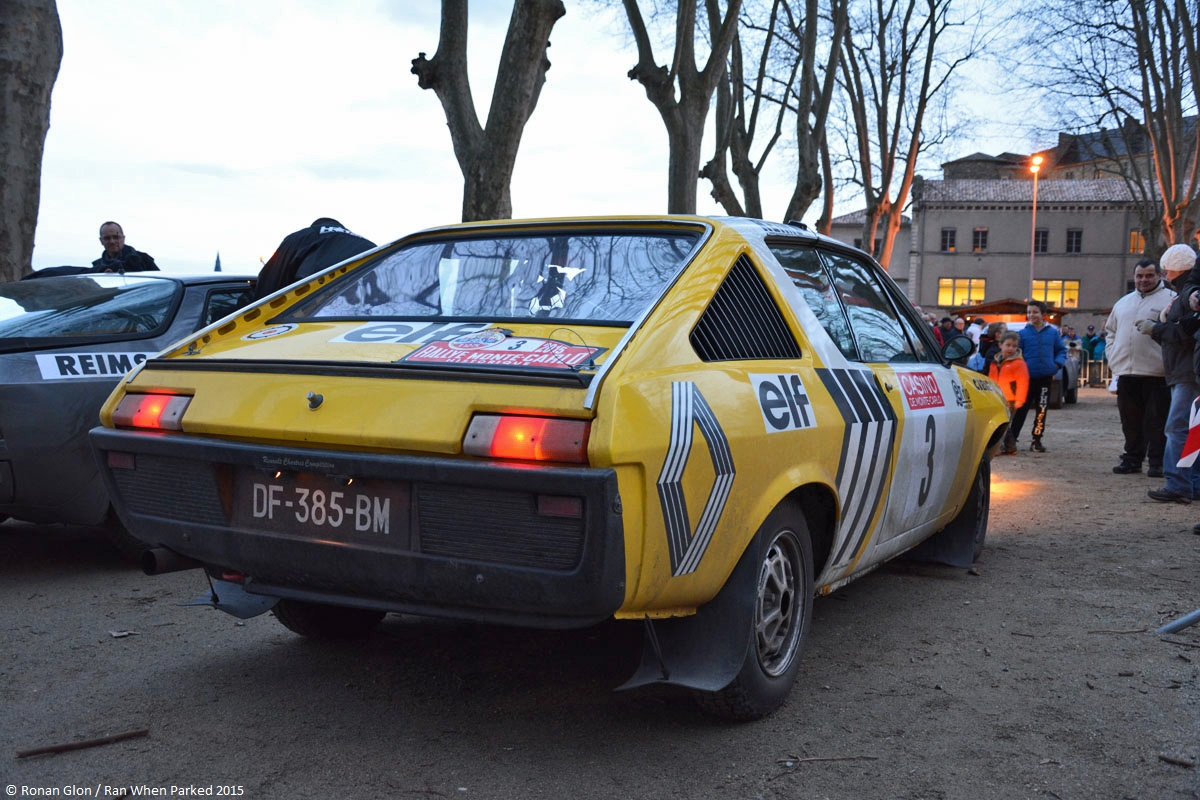 2015 historic monte carlo rally ranwhenparked renault 17 gordini 1 ran when parked. Black Bedroom Furniture Sets. Home Design Ideas
