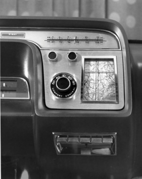 Ford highlights its very first navigation system, the 1964 positionindicator