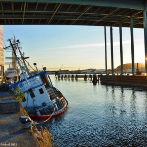 Floated when moored: The Crosby in Gothenburg, Sweden