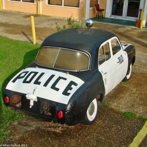 What's a Renault Dauphine police car doing in rural Louisiana?