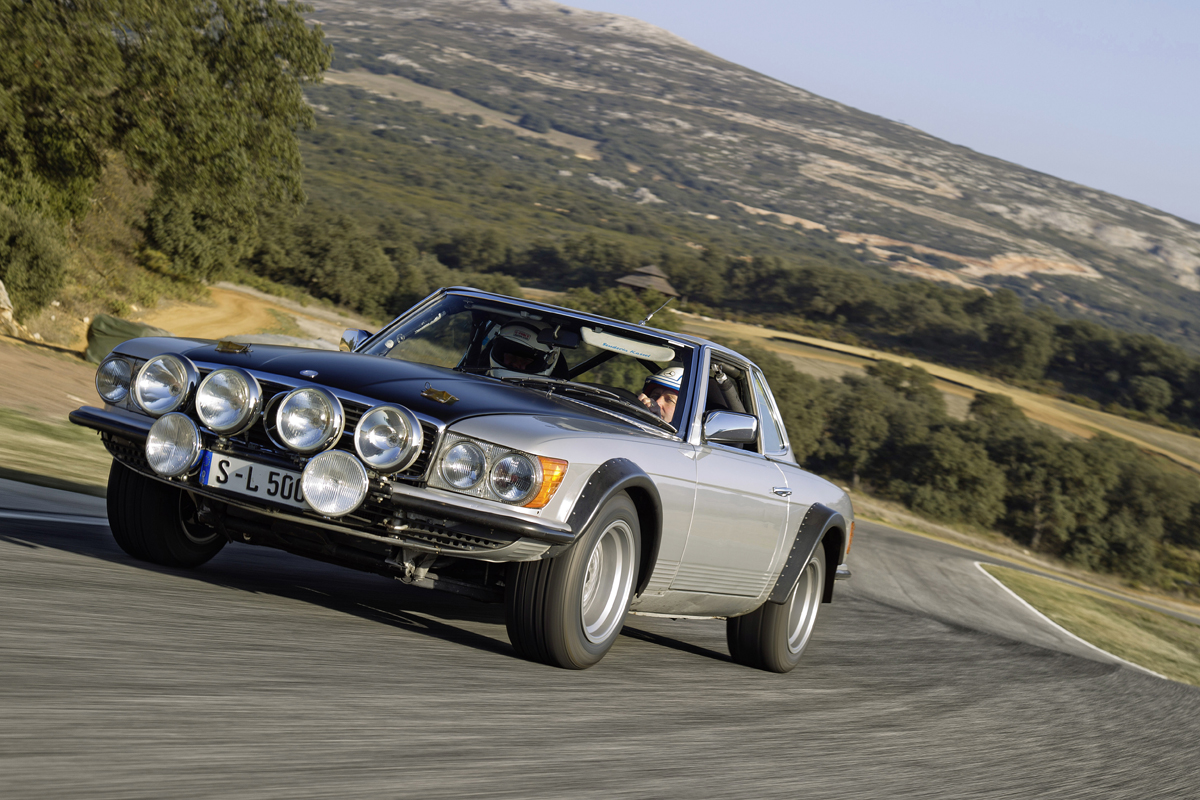 mercedes highlights the stillborn 500sl r107 rally car