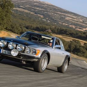 Mercedes highlights the stillborn 500SL (r107) rally car