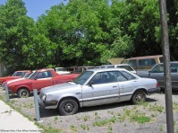 Abandoned car lot view