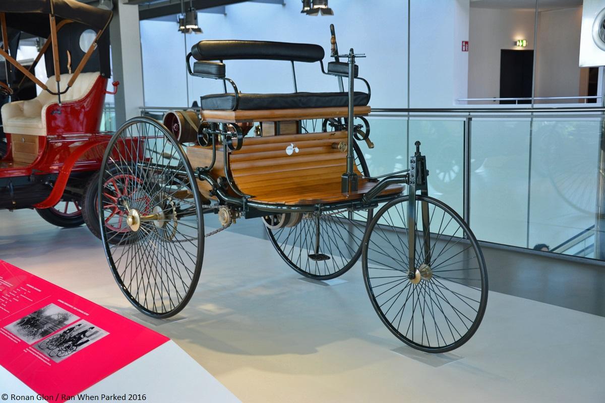zeithaus treasures 1886 benz patent motorwagen ran when parked. Black Bedroom Furniture Sets. Home Design Ideas