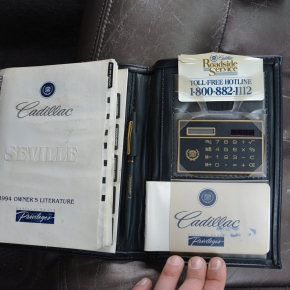 The 1994 Cadillac Seville came with a calculator